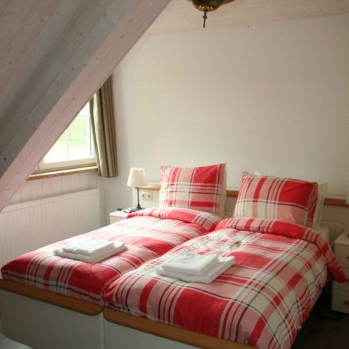Een van de kamers van de bed & breakfast