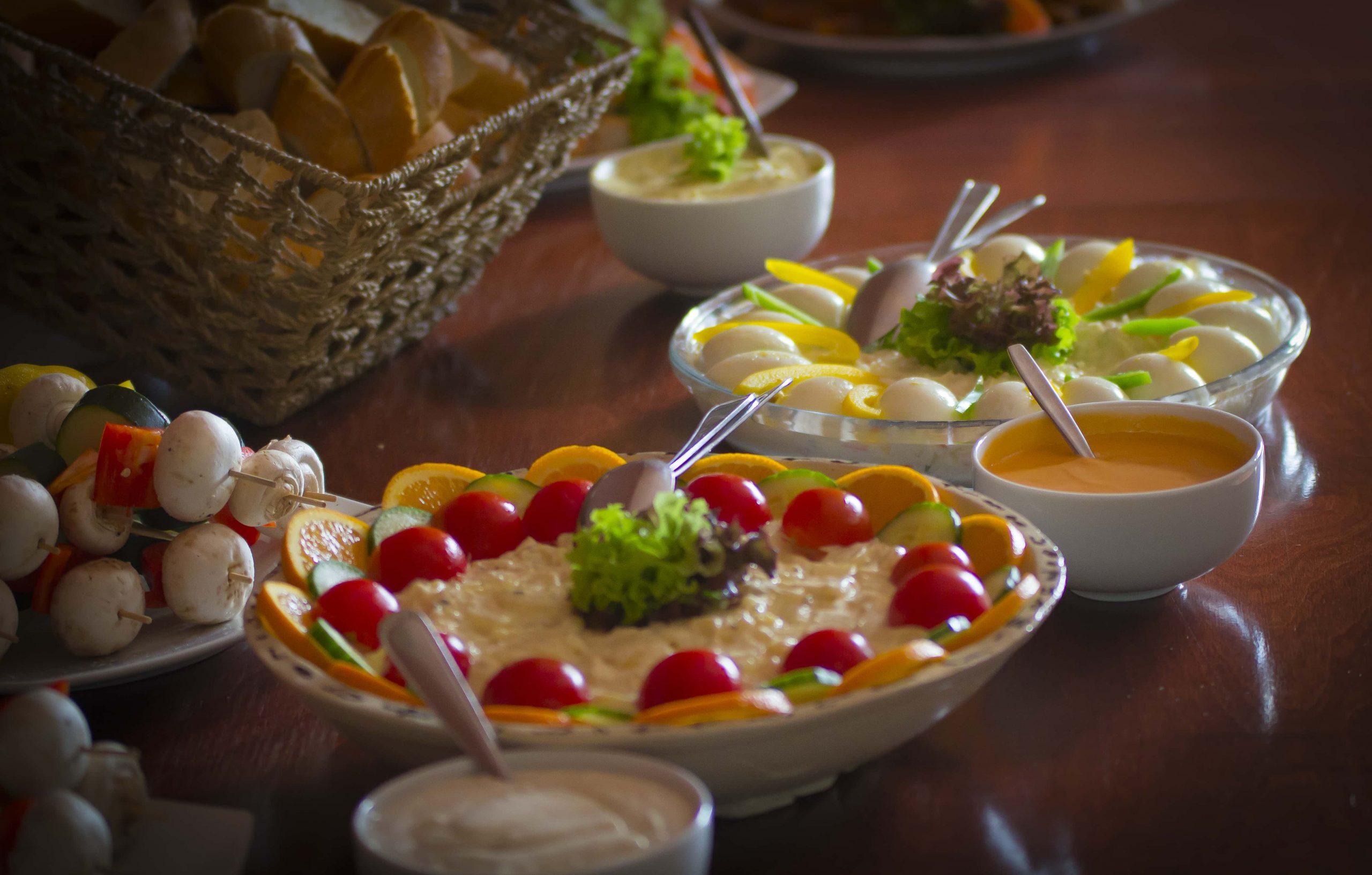 Salade bij Kamelenmelkerij Smits